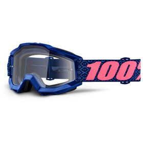100% Accuri Anti Fog Clear goggles roze/blauw